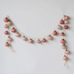 Festive Mercury Glass Ornaments on String