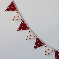 Festive Polka Dot Flag Garland