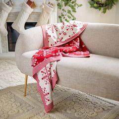 Festive Snowflake Pattern Throw Blanket
