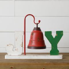 Festive Tabletop JOY With Bell