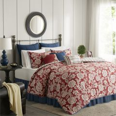 9 Piece Twill Reversible Comforter Set
