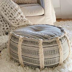 Round Textured Pouf
