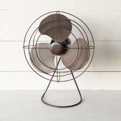 Decorative Vintage Inspired Metal Fan
