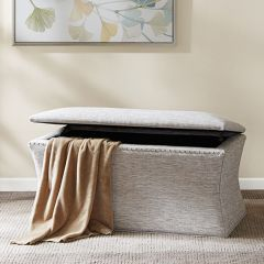 Curved Silhouette Storage Bench