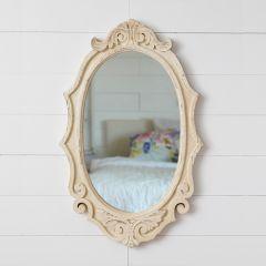 Distressed Scroll Wall Mirror