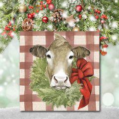 Holiday Farm Animal Wall Art Cow