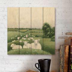 Field Of Sheep Wood Pallet Wall Art