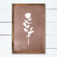 Floral Print Rose Wall Art