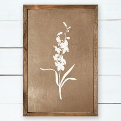 Floral Silhouette Cottage Wall Art