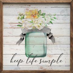 Floral Vase Keep Life Simple Framed Wall Art