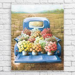 Flower Truck Canvas Wall Art