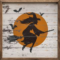 Flying Witch Silhouette Wall Art