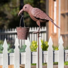 Folk Art Crow Bird Feeder