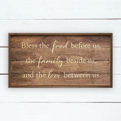 Food Family Love Prayer Wall Sign