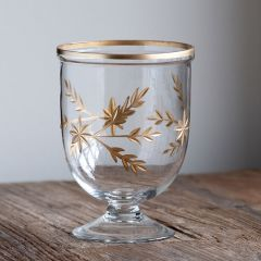 Footed Glass Hurricane Vase