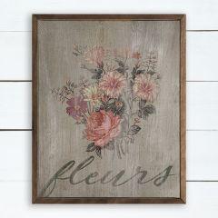 Framed Fleurs Wall Art