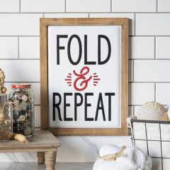 Framed Metal Fold And Repeat Sign