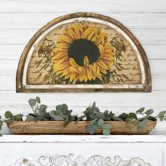 Framed Sunflower Burlap Print Wall Decor