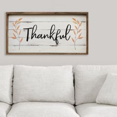 Framed Thankful Fall Decor