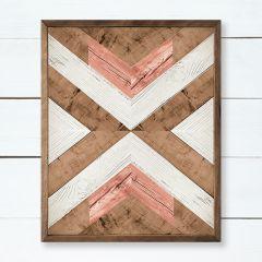 Framed Wood Chevron Wall Art