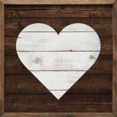 Framed Wood Heart Wall Decor