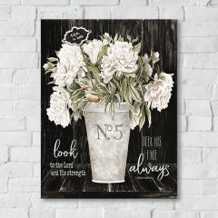 French Country 1 Vase Floral Canvas Art, Look Always
