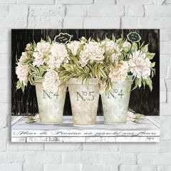 French Country 3 Vase Floral Canvas Art