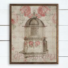 French Country Bird Cage Wall Art
