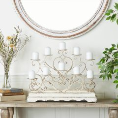 French Country Centerpiece Candelabra