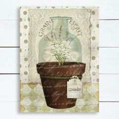 French Country Potted Lavender Wall Art
