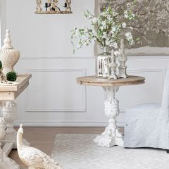 French Farmhouse Round Side Table