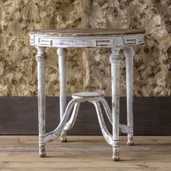 French Inspired Painted Pine Accent Table