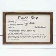French Toast Recipe Wall Art