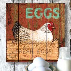 Fresh Eggs Canvas Wall Art