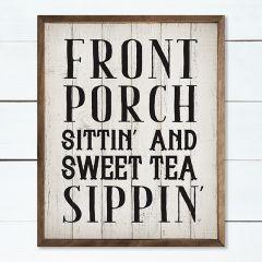Front Porch Sittin Framed Farmhouse Sign