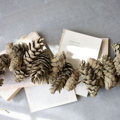 Frosted Sage Pine Decorative Garland Set of 6