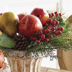 Fruit And Berry Pine Pick, Set of 3