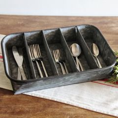 Galvanized Rectangle Tray With Dividers