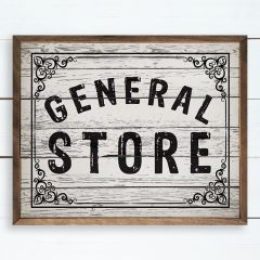 General Store Framed Farmhouse Sign