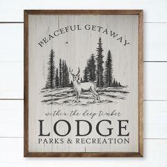 Getaway Lodge Framed Rustic Wall Art