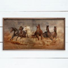 Gilded Stampede Wall Art