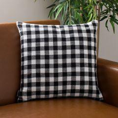 Gingham Check Farmhouse Throw Pillow