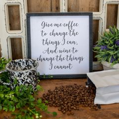 Give Me Coffee Inspirational Sign