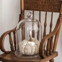 Glass Cloche With Plate