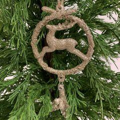 Glitter and Shine Deer Ornament