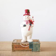 Glittered Holiday Snowman