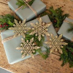 Glittered Snowflake Ornaments Set of 4