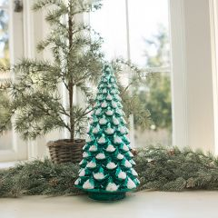 Glowing Glass Holiday Tree 13 Inch