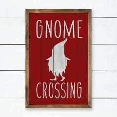 Gnome Crossing Holiday Sign