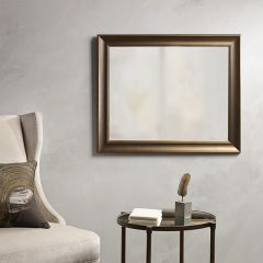 Gold Accented Rectangle Mirror